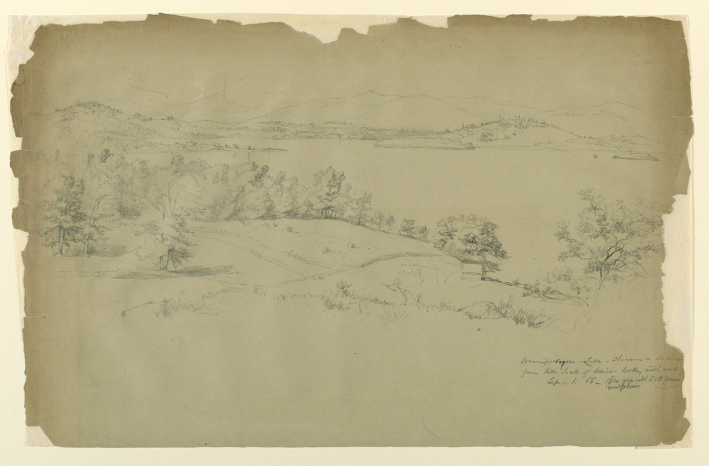 Drawing, Landscape Sketch, Central New Hampshire