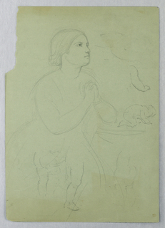 "Drawing, Study for ""Communion of t, 1845"