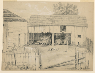 Drawing, Barnyard in North Conway, New Hampshire