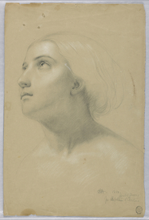 "Drawing, Study for Duplicate of ""Christiana"" and Study for ""Mercy"", March 1850"