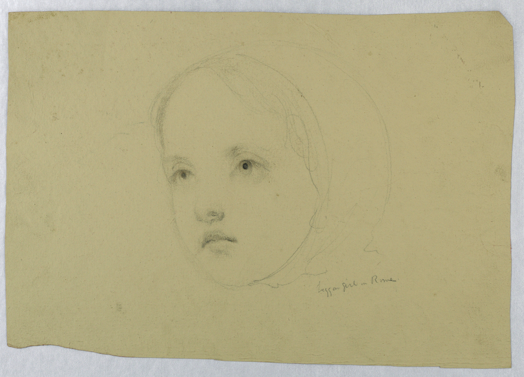 Drawing, Head of a Child, 1843