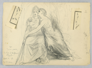 Drawing, Study for Justice and Mercy, The Kiss of Righteousnes and Peace
