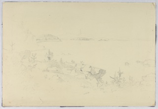 Sketch of a rocky coastline.