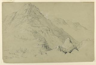 Drawing, Peak of Chocorna, Looking North