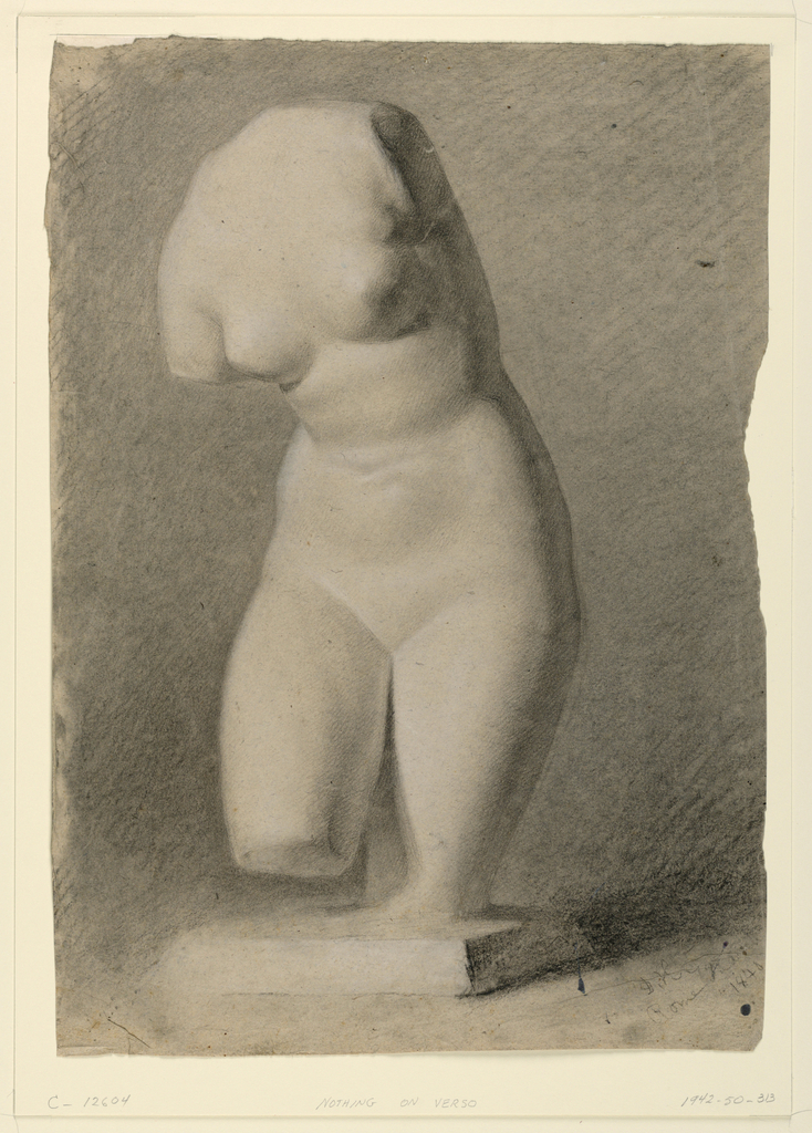 Drawing, Female Torso From a Plast