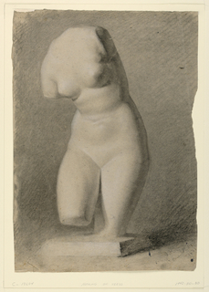 Drawing, Female Torso From a Plast, 1840