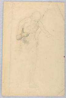 Drawing, Bearded Man Standing, 1852