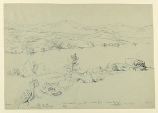Drawing, White Mountains from the South