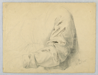 Drawing, Drapery Study of Bodice, December 1, 1845