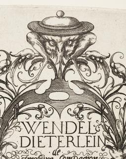 Print, Plate 4, from Die Folge der phantastischen Schmucksträβe (Suite of Fantastic Ornamental Bouquets)