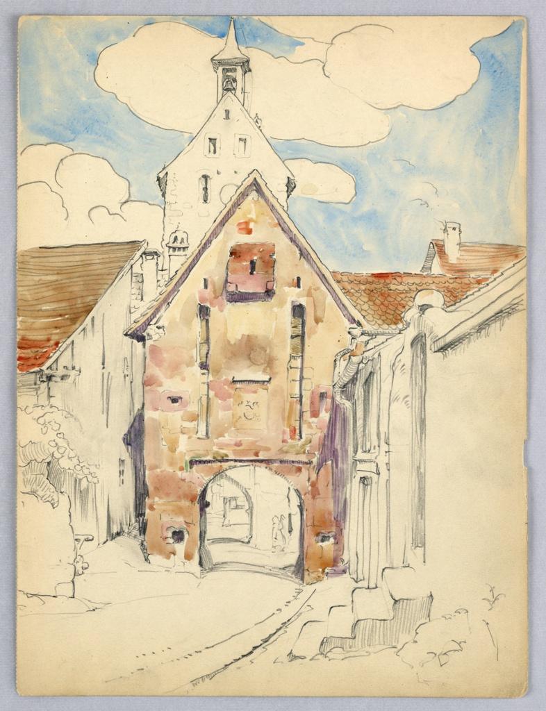 Drawing, Towered Gateway