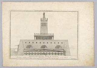 Print, Pier Extension at Geneva, 18th century