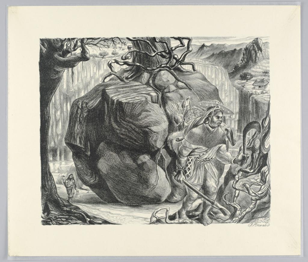 Print, Ritual of the Huichol Indian Tribe