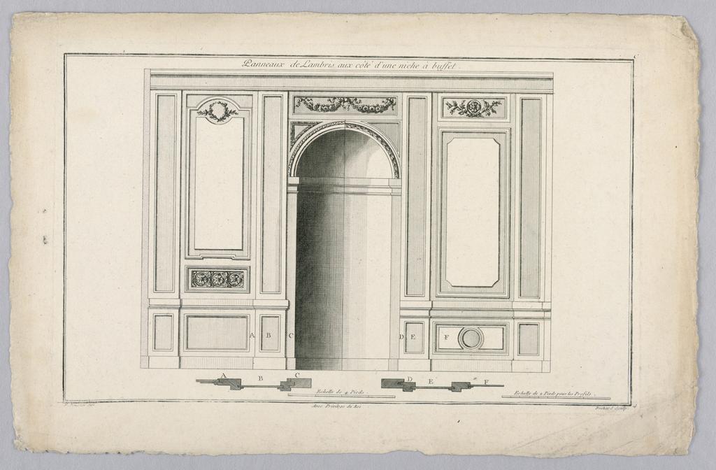 Print, Wall Interior with Niche, 18th century