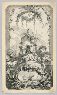 Print, Leda and the Swan, 18th century