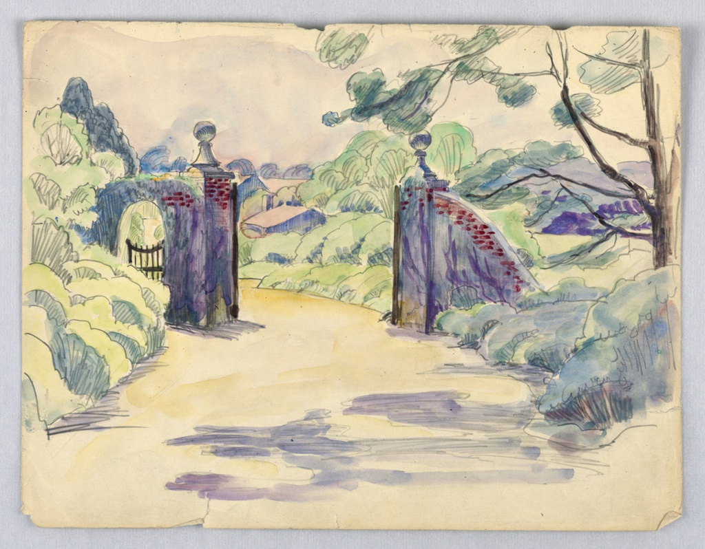 Drawing, Landscape with Gate