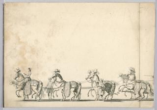 Print, Horses for Float, 18th century