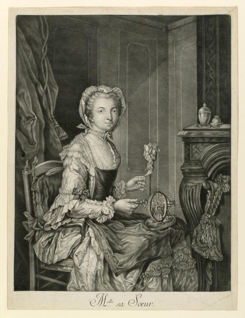 Print, Melle Sa Soeur, ca. 1760