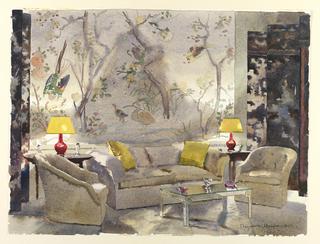 Drawing, Mrs. Marshall Field's bedroom