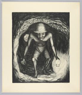 Print, Silver Mine Worker