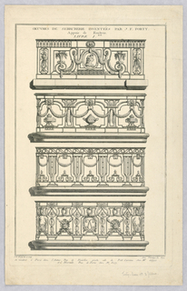 Print, Design for Balcony Railings, 18th century