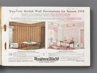 Sample Book, Correct Wall Papers for Year 1918