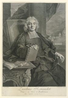 Print, Portrait of Eusebius Renaudot, 1680-1729