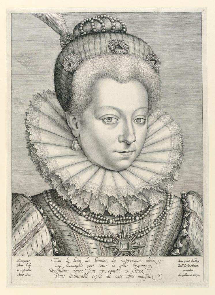 Print, Portrait of Catherine-Henriette de Balzac d'Entragues, Marquise de Verneuil (1579-1633)