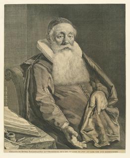 Print, Portrait of Gellius de Bouma, 1629-1658