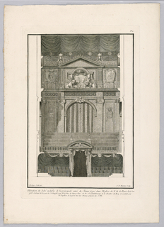 Print, View of Choir With Rood Screen in Church of Notre Dame, 18th century