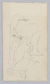 Sketch of seated figure.