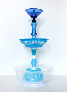 Blue Fruit Bowl, from Multiplastica Domestica collection, 2012