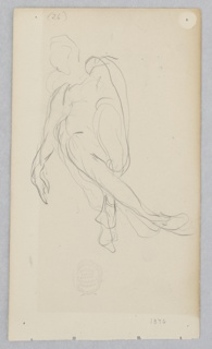 Sketch of a figure in motion.