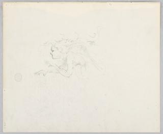 Sketch of a female figure.