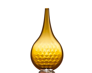 Large Amber Vase, from Pizzelle series