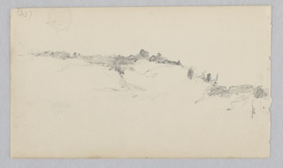 Sketch of a landscape with hills along the horizon