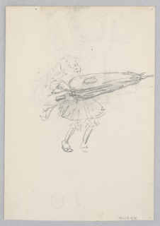 Sketch of a young female figure.