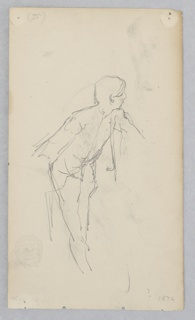 Sketch of a male figure bowing.
