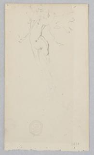 Partial sketch of a female figure.
