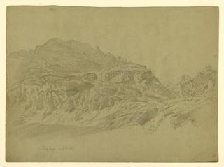 Sketch of a mountain pass.
