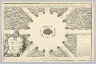 Print, Plan of a Hunting Lodge With 16 Wings, 18th century