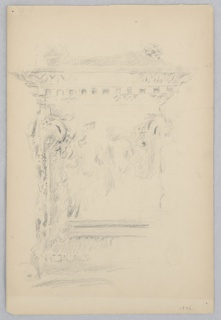 Sketch of a pedestal.