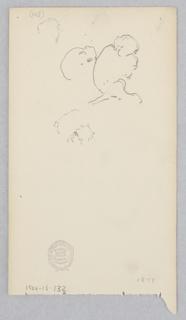 Partial sketch of a figure's head.