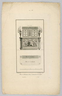 Print, Design for Chest with Drawers, 18th century