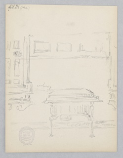 Sketch of a table.
