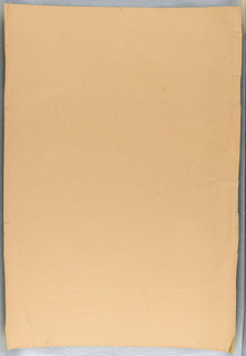 Plain peach-colored paper with embossing in faint all-over rectilinear pattern.