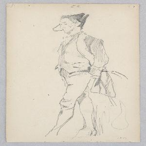 Drawing, Man, 1877