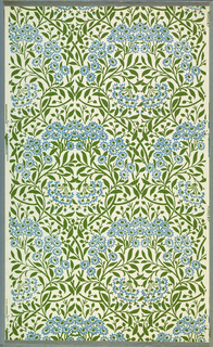 Wallpaper of 22 designs; 56 partial rolls. Morris and Co. designs
