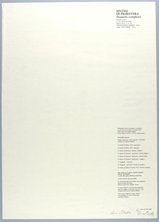 Title page of third plate.  Text in vertical block, flush right, with title of plate 3 at upper right corner;  authorization of reproductive prints with list of prints below.  [See 1999-6-5-5.]