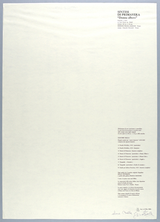 Vertical rectangle. Title page of fourth plate.  Printed black text in vertical block on white ground, flush right, with title of plate 4 at upper right corner;  authorization of reproductive prints with complete  list of prints below.  [See 1999-6-5-5.]